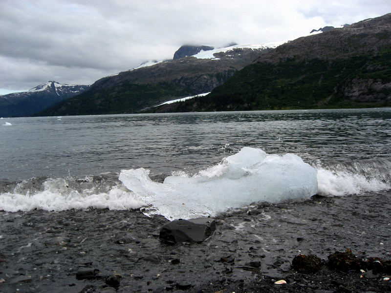 iceberg washed up on beach-Passage Canal, AK 8-30-2007