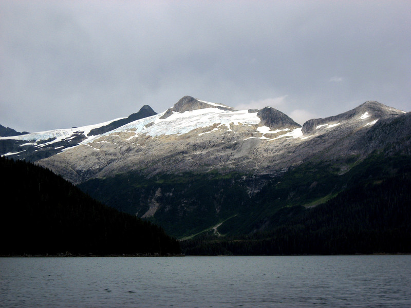 retreating glacier above Passage Canal-Prince William Sound, AK 8-30-2007