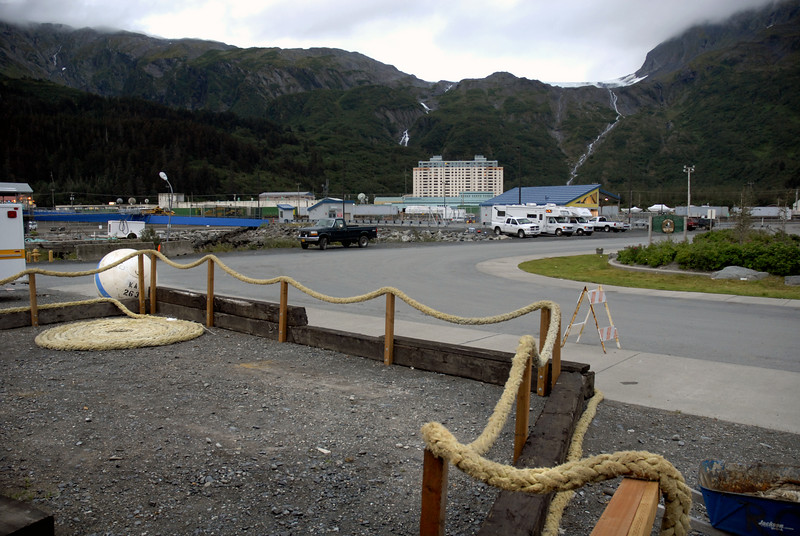 Begich Tower, home to 90 percent of Whittier, AK population-8-30-2007