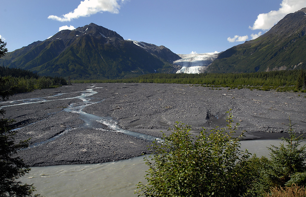 Exit Glacier & moraine-Seward, AK 8-31-2007