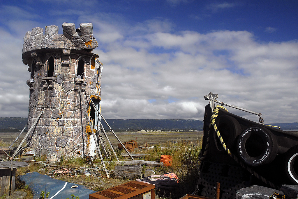 Alaskan castle on Homer Spit, Kenai Peninsula 9-1-2007
