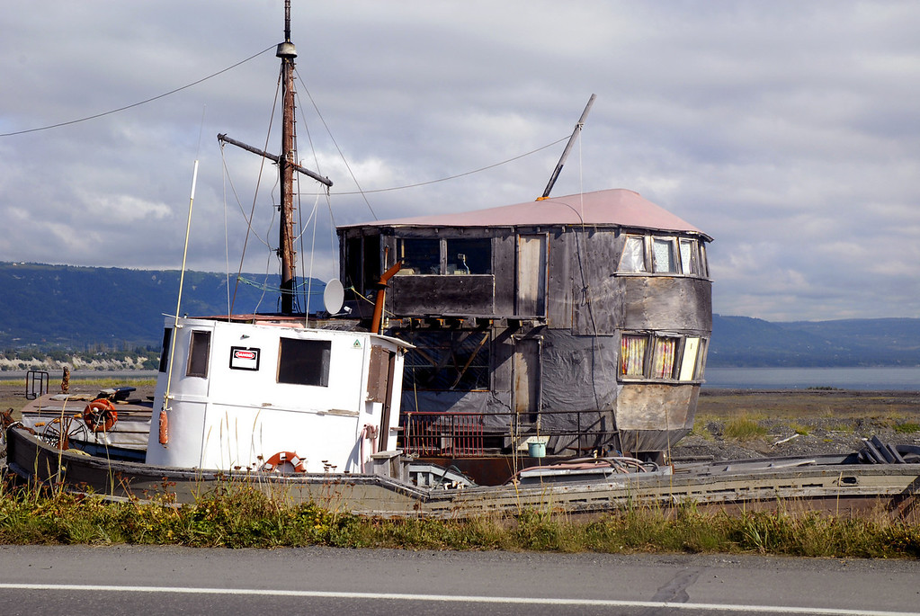 house-boat on Homer Spit-Kenai Peninsula, AK 9-1-2007