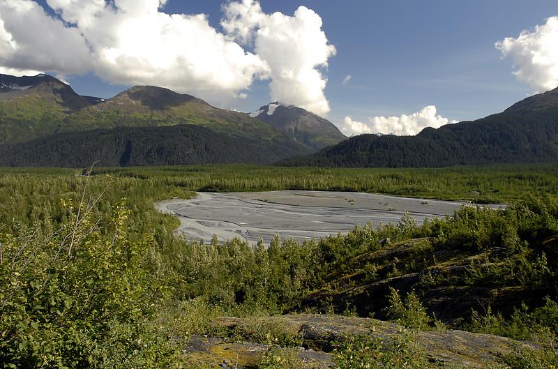 view of moraine from Exit Glacier-Seward, AK 8-31-2007