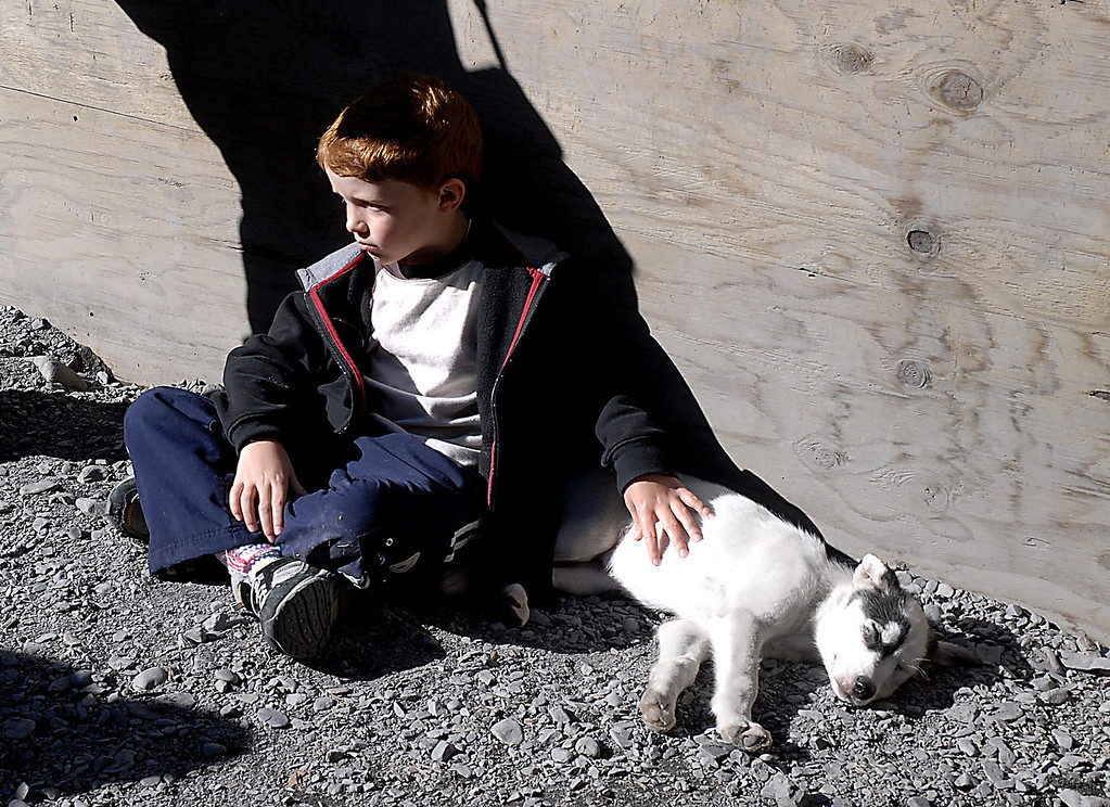 boy & husky pup-Seavey's homestead-Seward, Alaska 8-31-2007