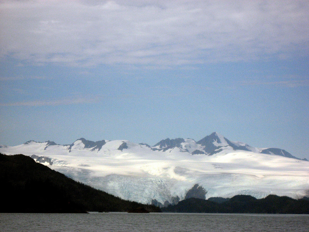 Blackstone & Northland glaciers above Blackstone Bay-Passage Canal, AK 8-30-2007
