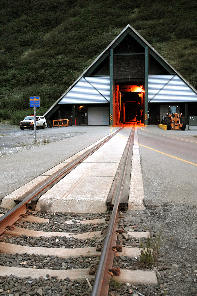 tunnel entrance - from Portage Valley to Whittier, Alaska 8-30-2007