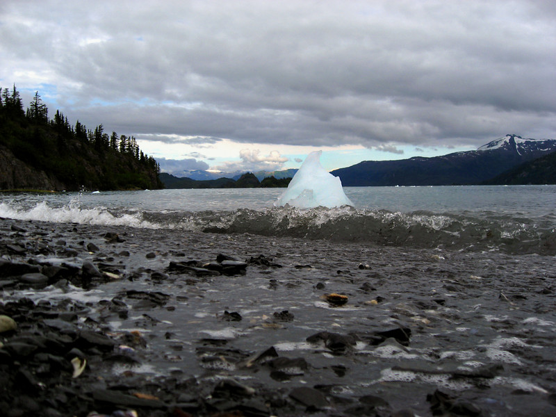 iceberg landing-Passage Canal, Prince William Sound, AK 8-30-2007