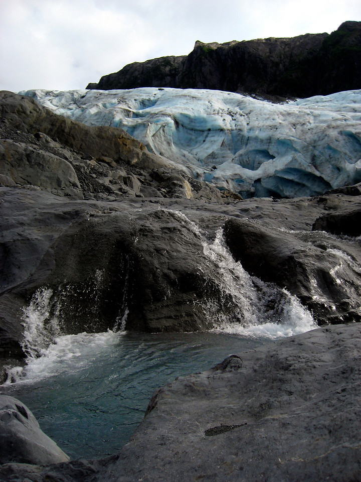 Lawrence glacier melting, Passage Canal, Alaska 8-30-2007