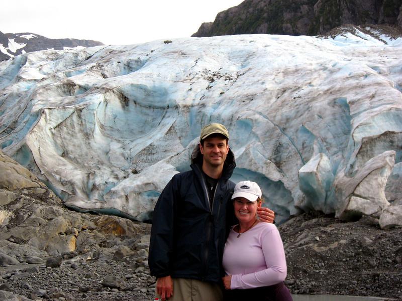 Rob & Kelly @ Lawrence Glacier, Prince William Sound, Alaska 8-30-2007