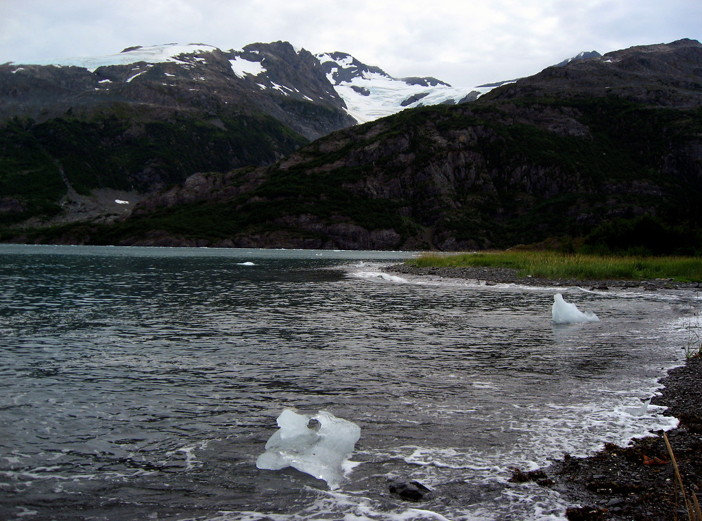 ice chunks washing up on beach-Passage Canal, Alaska 8-30-2007