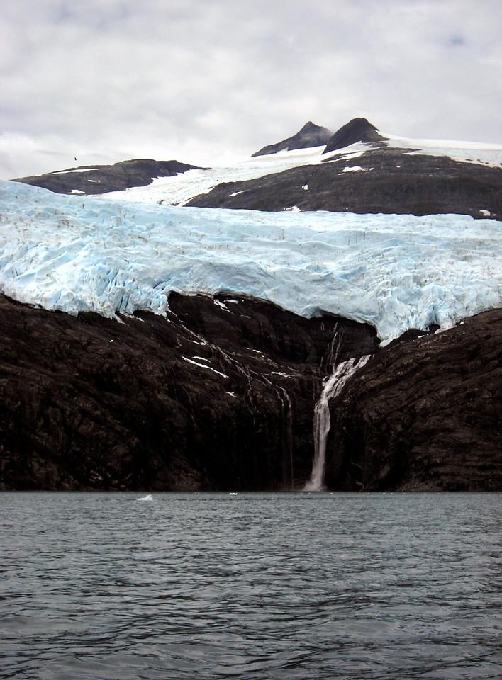 Northland glacier & falls, Passage Canal, AK 8-30-2007