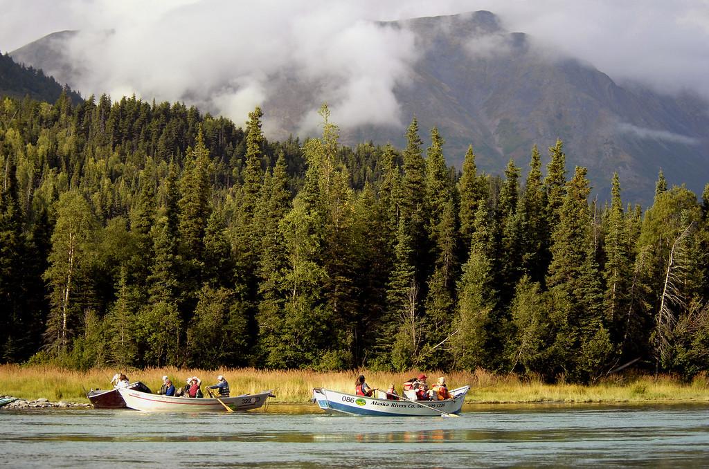 fishing charters near Cooper Landing on the Kenai River, AK 9-2-2007