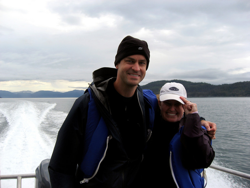 Rob & Kelly in Prince William Sound, Alaska 8-30-2007