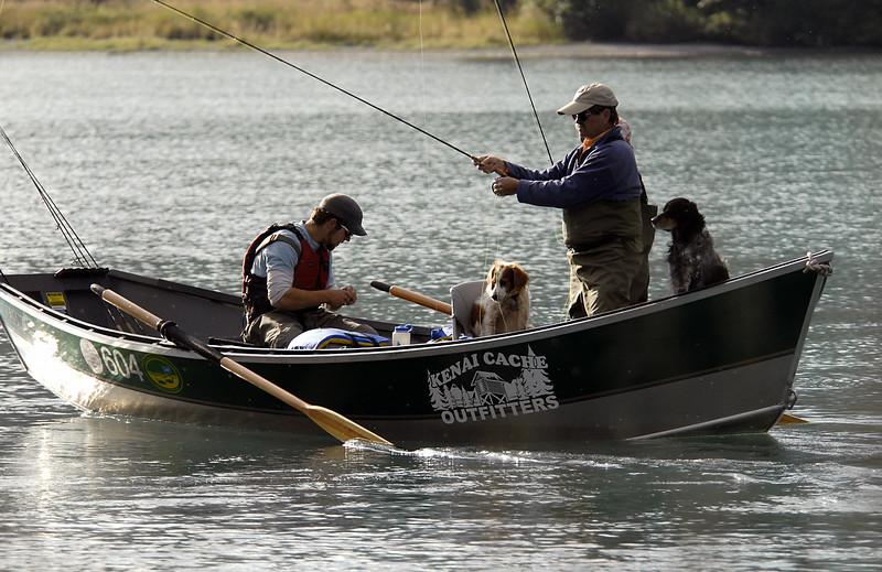 fishermen & fisherdogs-Kenai River-Cooper Landing, AK 9-2-2007