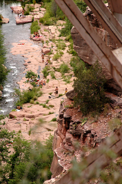 aerial view of Oak Creek beach-Sedona, AZ 7-9-04