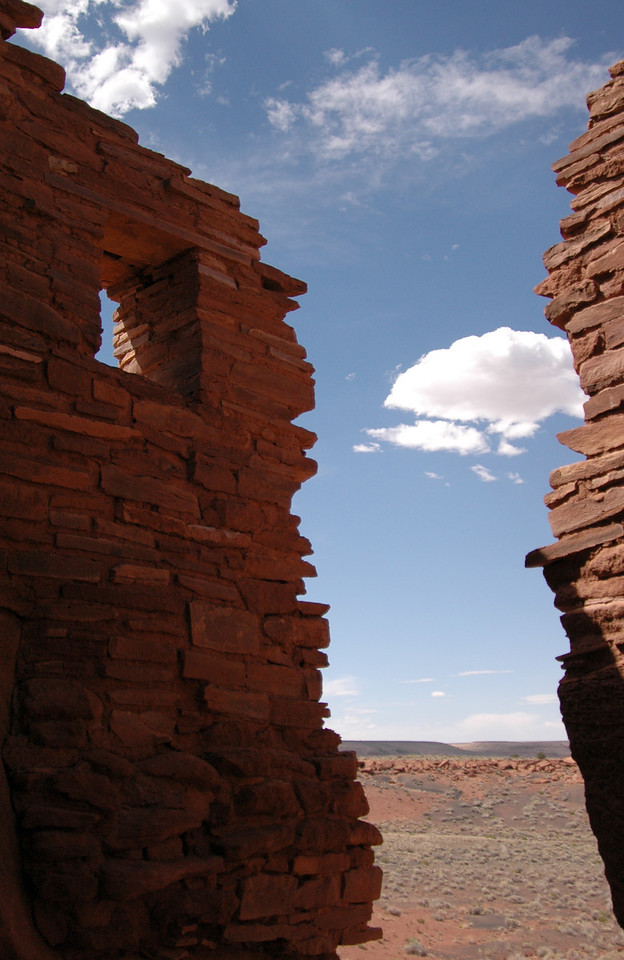 Wupatki wall & window, Arizona 7-8-04