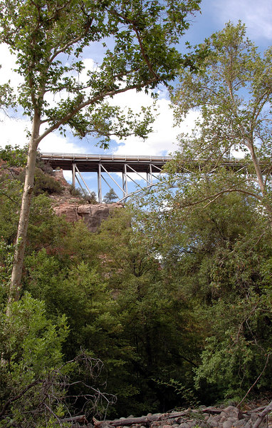 Oak Creek Canyon bridge span-Sedona, AZ 7-9-04