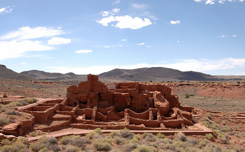 Wupatki Ruins overview, Arizona 7-8-04