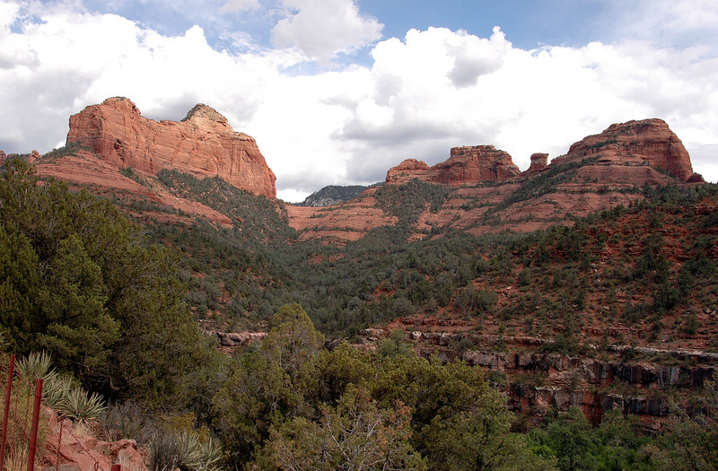 Oak Creek Canyon vista-Sedona, AZ 7-9-04