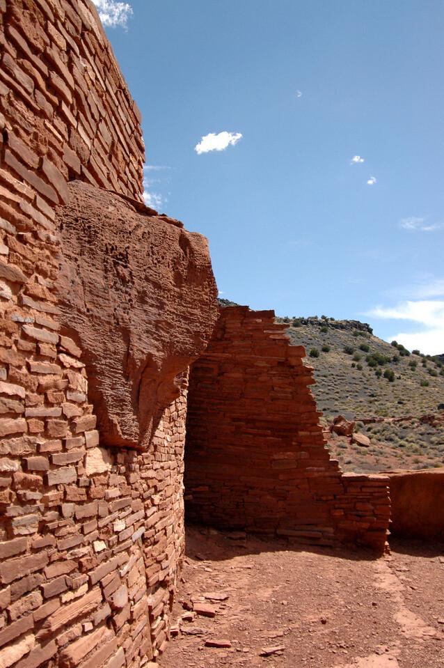 Wupatki wall boulder, AZ 7-8-04