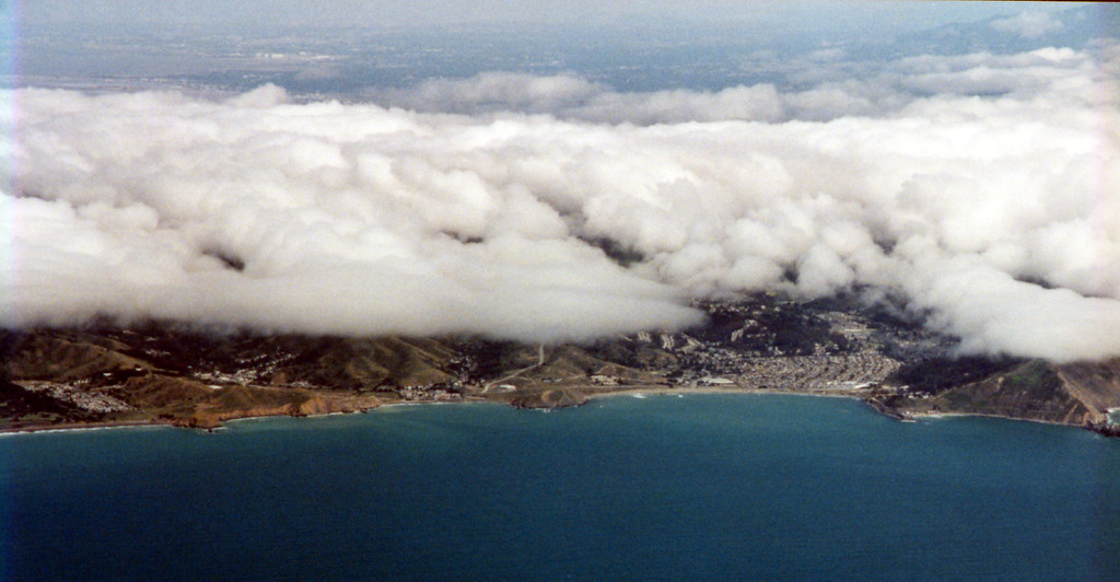 San Francisco coastline from airplane 1999 May