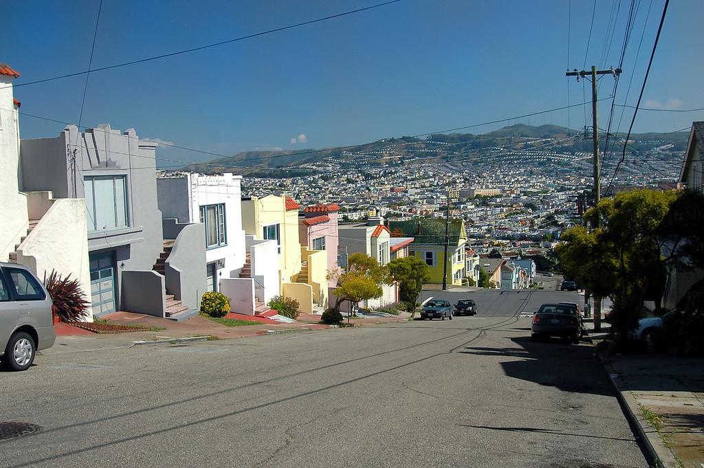 Glen Park hillside homes, view of Potrero Hill-San Francisco 5-24-2006