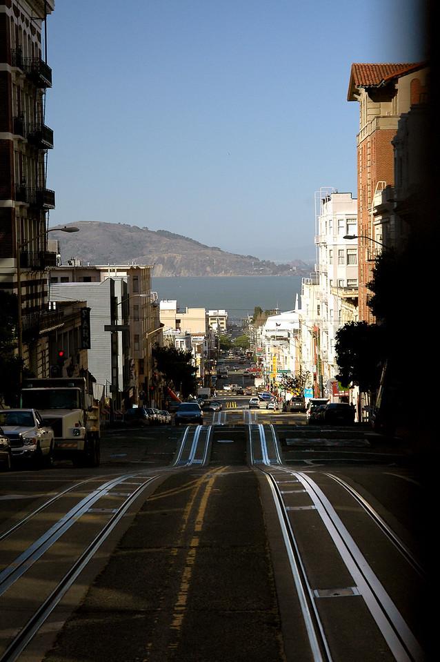 cable car tracks-Powell St-San Francisco, CA 2-14-06