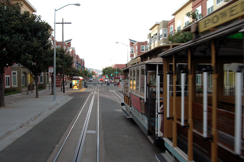 Powell Street cable car near Bay St turnaround-San Francisco, CA 2-14-06