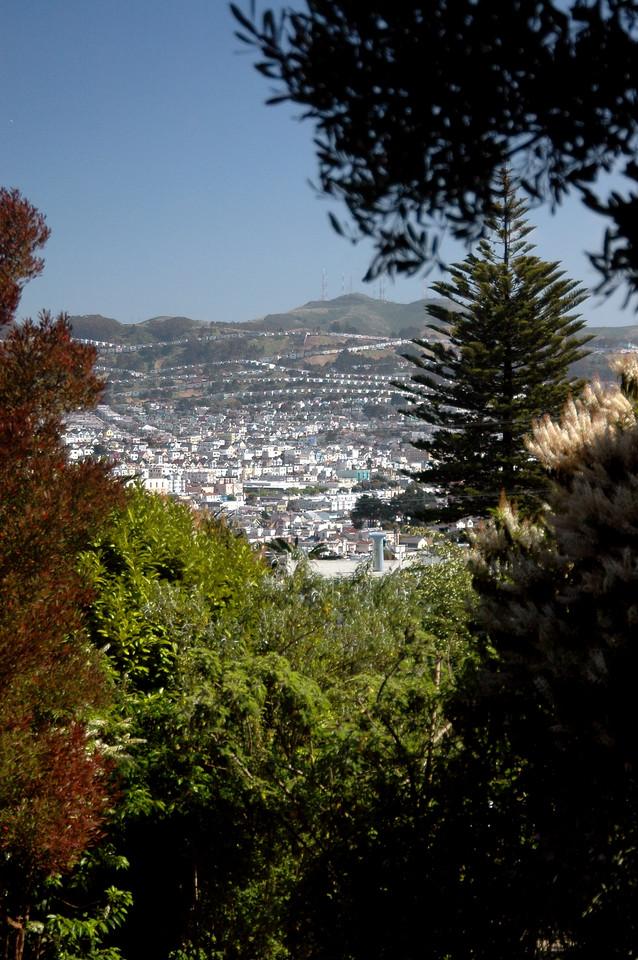 Potrero Hill view from Glen Park retreat-San Francisco, CA 5-24-2006