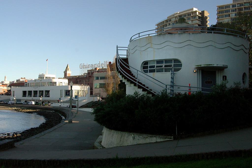 Aquatic Park-restrooms, San Francisco Maritime Museum, Ghirardelli Chocolates-CA 2-14-06