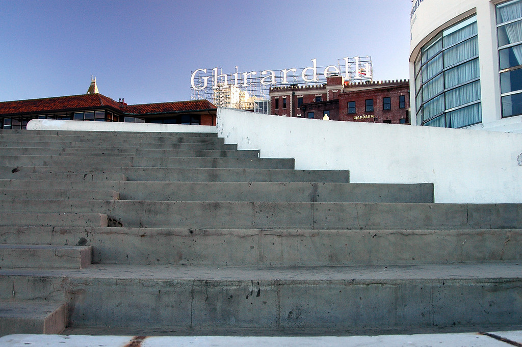 Stairway to Ghirardelli Chocolates-San Francisco waterfront, CA 2-14-06