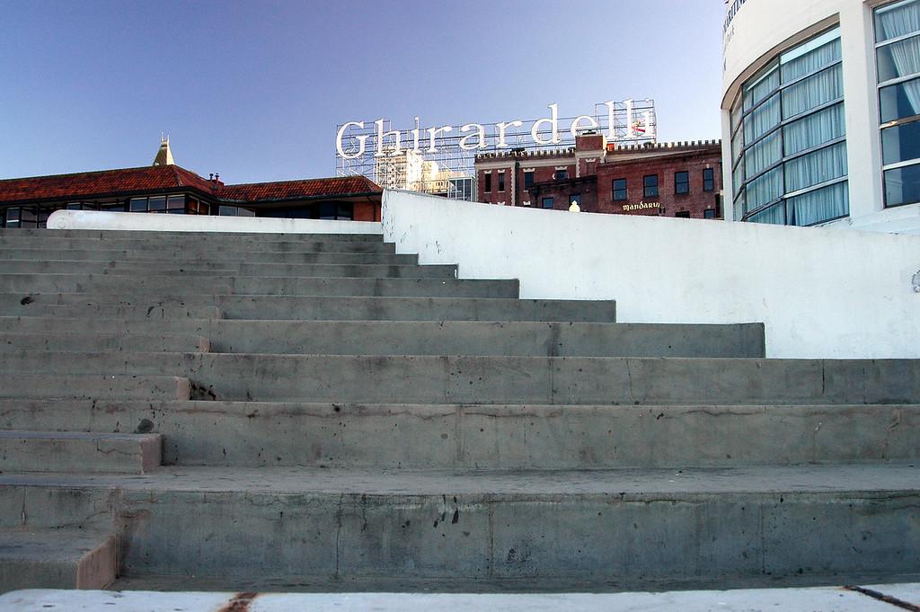 Stairway to Ghirardelli Chocolates-San Francisco waterfront, CA 2-14-06