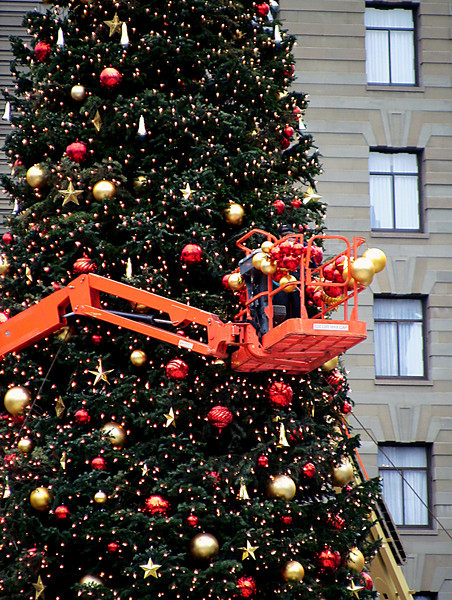 untrimming the Christmas tree-Union Square-San Francisco 1-2006