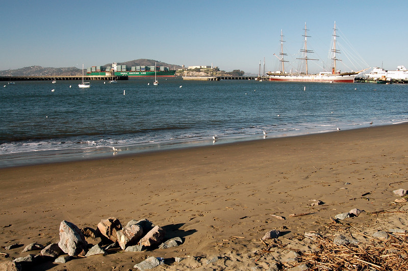 Chinese Freighter, Balclutha rigger, Alcatraz-San Francisco, CA 2-14-06