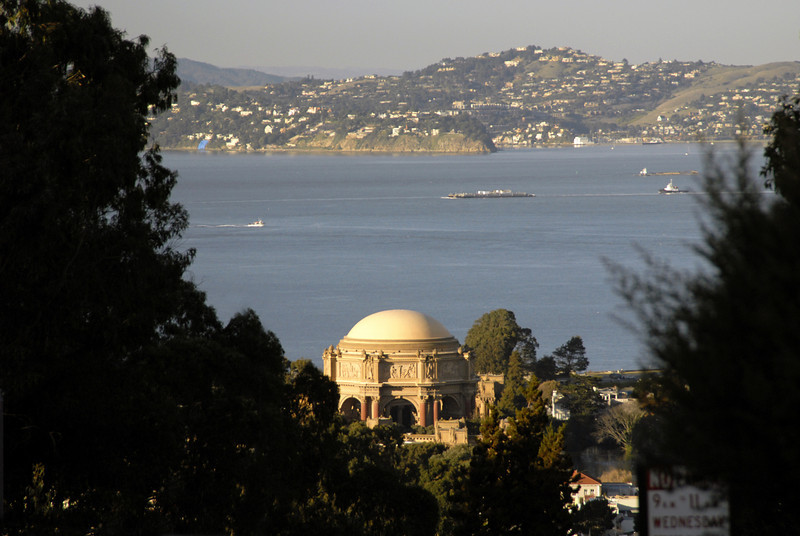 Palace of Fine Arts from Inspiration Point in the Presidio-San Francisco 1-15-2006