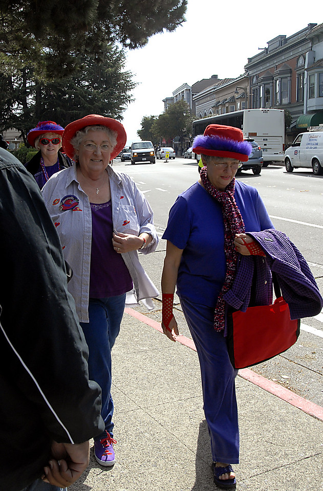 Red Hatters in Sausalito, CA 10-14-2006