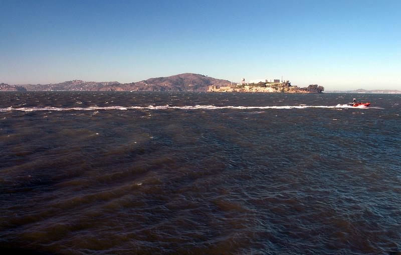 San Francisco Bay-Alcatraz & speed boat-CA 2-14-06