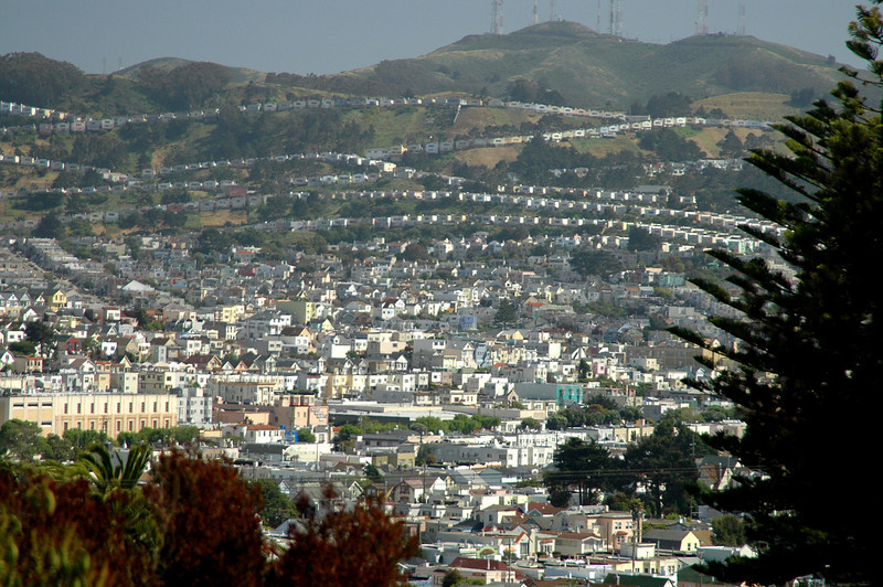 Potrero Hill from Glen Park-San Francisco, CA 5-24-2006
