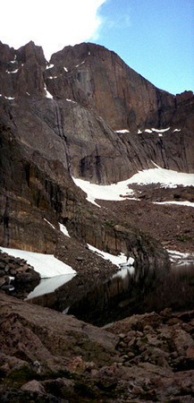 Chasm Lake panoramic - Rocky Mtns, CO 1997 July