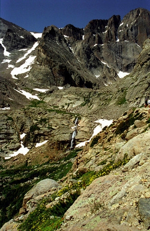 Chasm Lake approach - Rocky Mtn NP, CO 1997 July