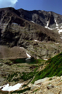 Chasm Lake hike (but not Chasm Lake) - CO 1997 July