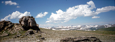 Rocky Mtn NP mtns panoramic 1997 July
