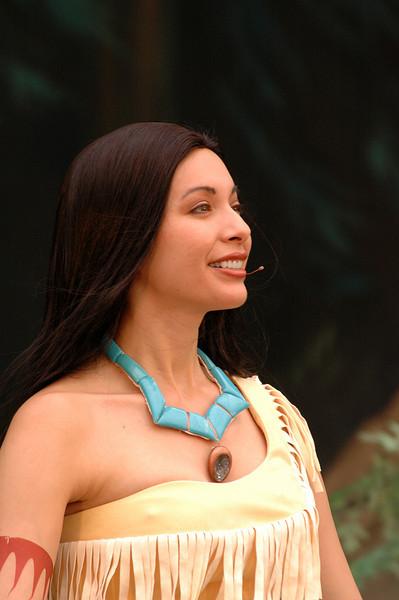 Pocahontas standing tall-Animal Kindom, FL 10-15-04