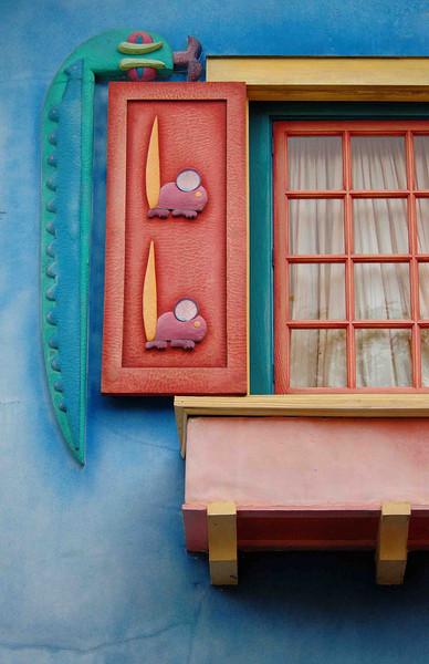 colorful window @ Animal Kingdom, Florida 10-15-04
