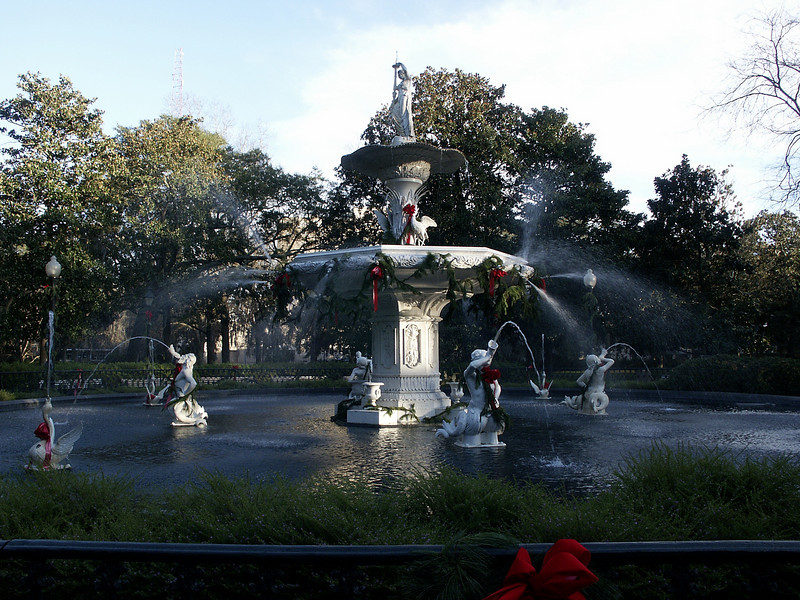Forsyth Park fountain - Savannah 2002