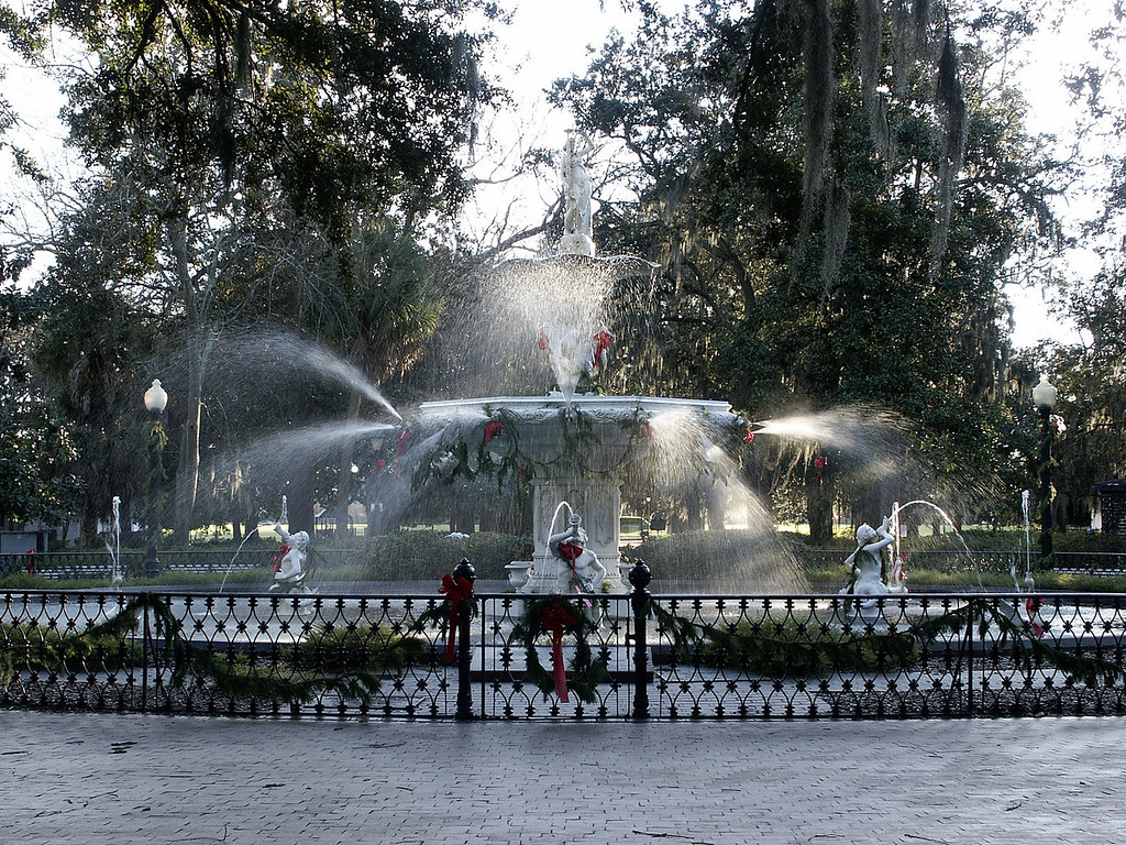 Forsyth fountain - Savannah, Georgia 2002
