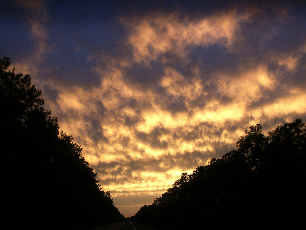 sunset on the road to Georgia 2002
