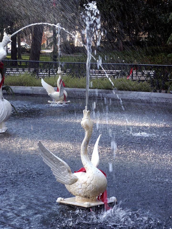 Forsyth Park fountain - Christmas 2002