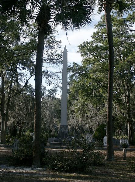 Bonaventure Cemetery obelisk - Savannah, GA 2002