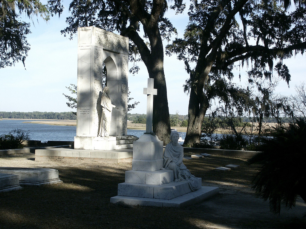 Bonaventure Cemetery sculptures along Wilmington River - Savannah, GA